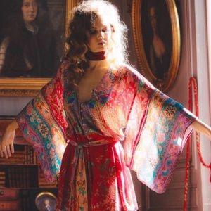 Boho Lotus Kimono Sleeve Romper